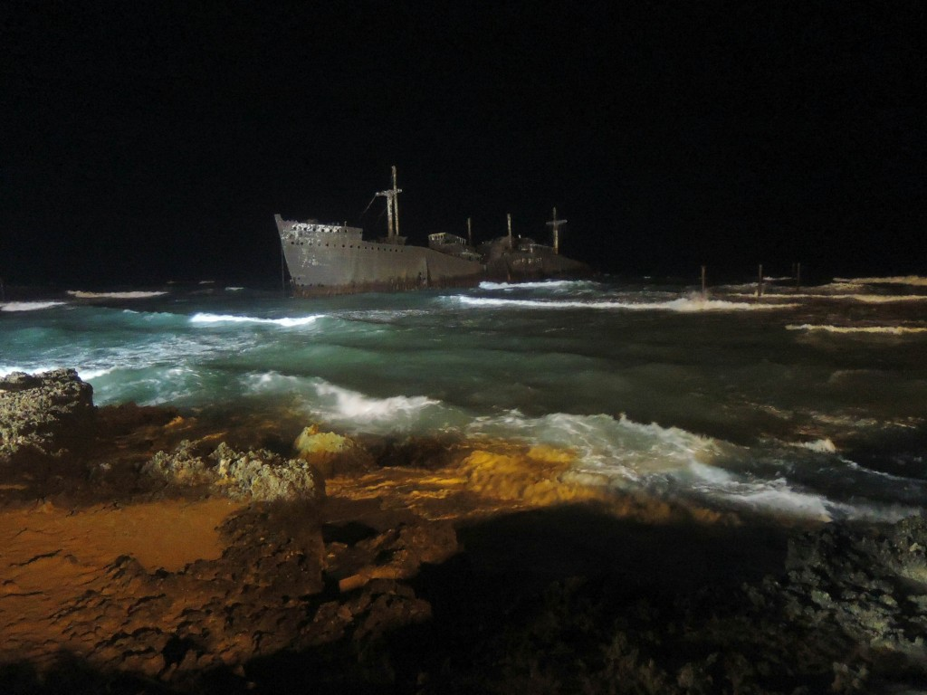 Greek ship wreckage on Kish