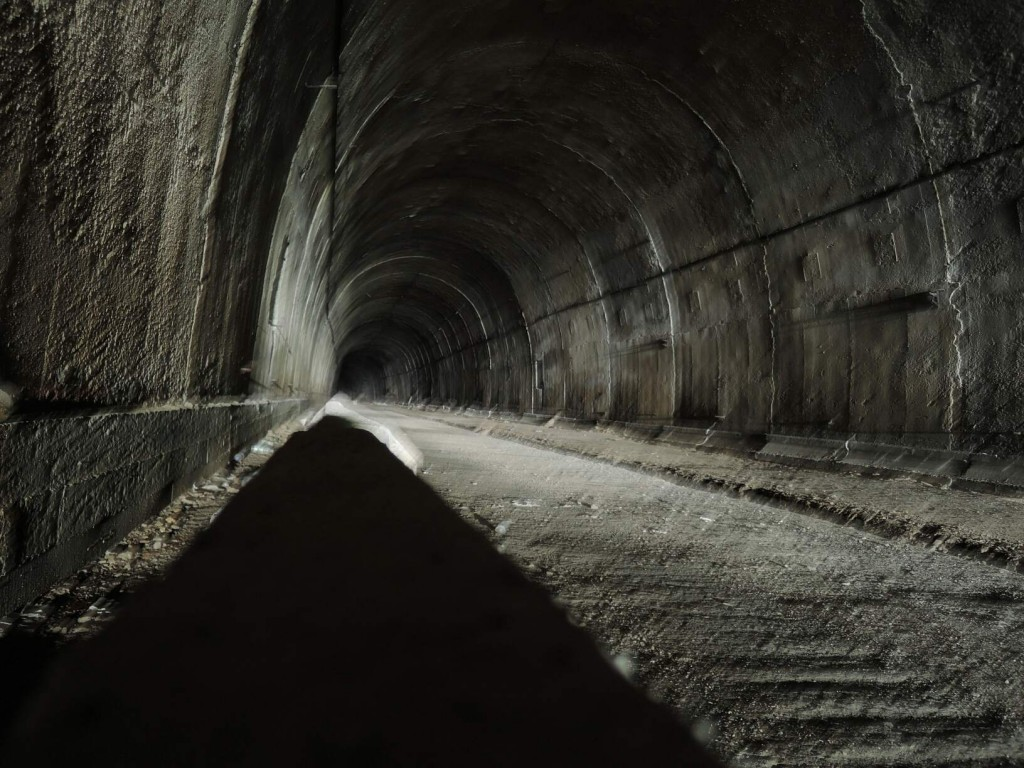 Into the dark - the tunnel in Gagra