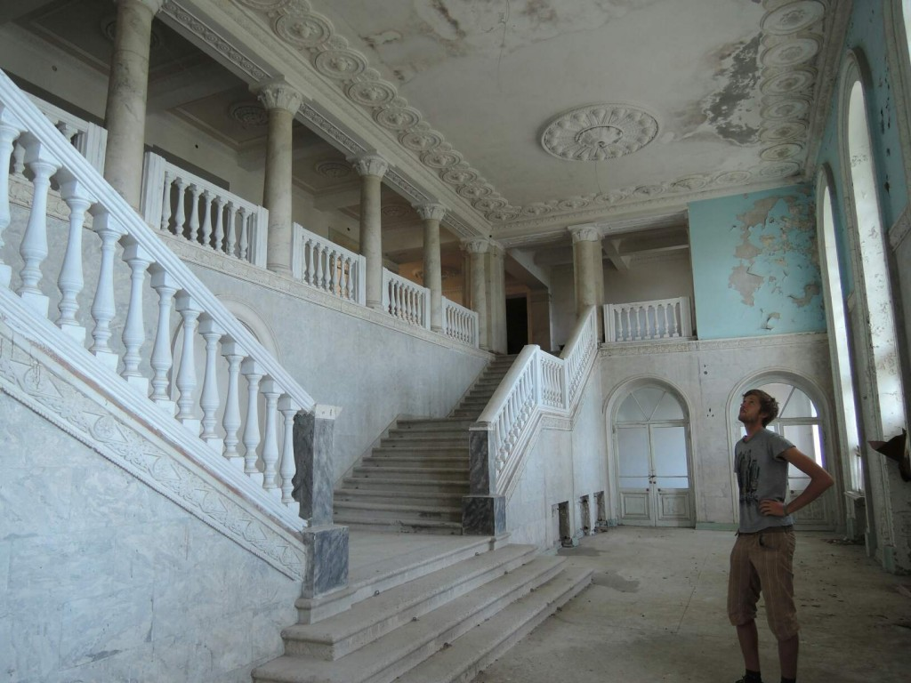 entrance hall of the sanatorium in Gagra