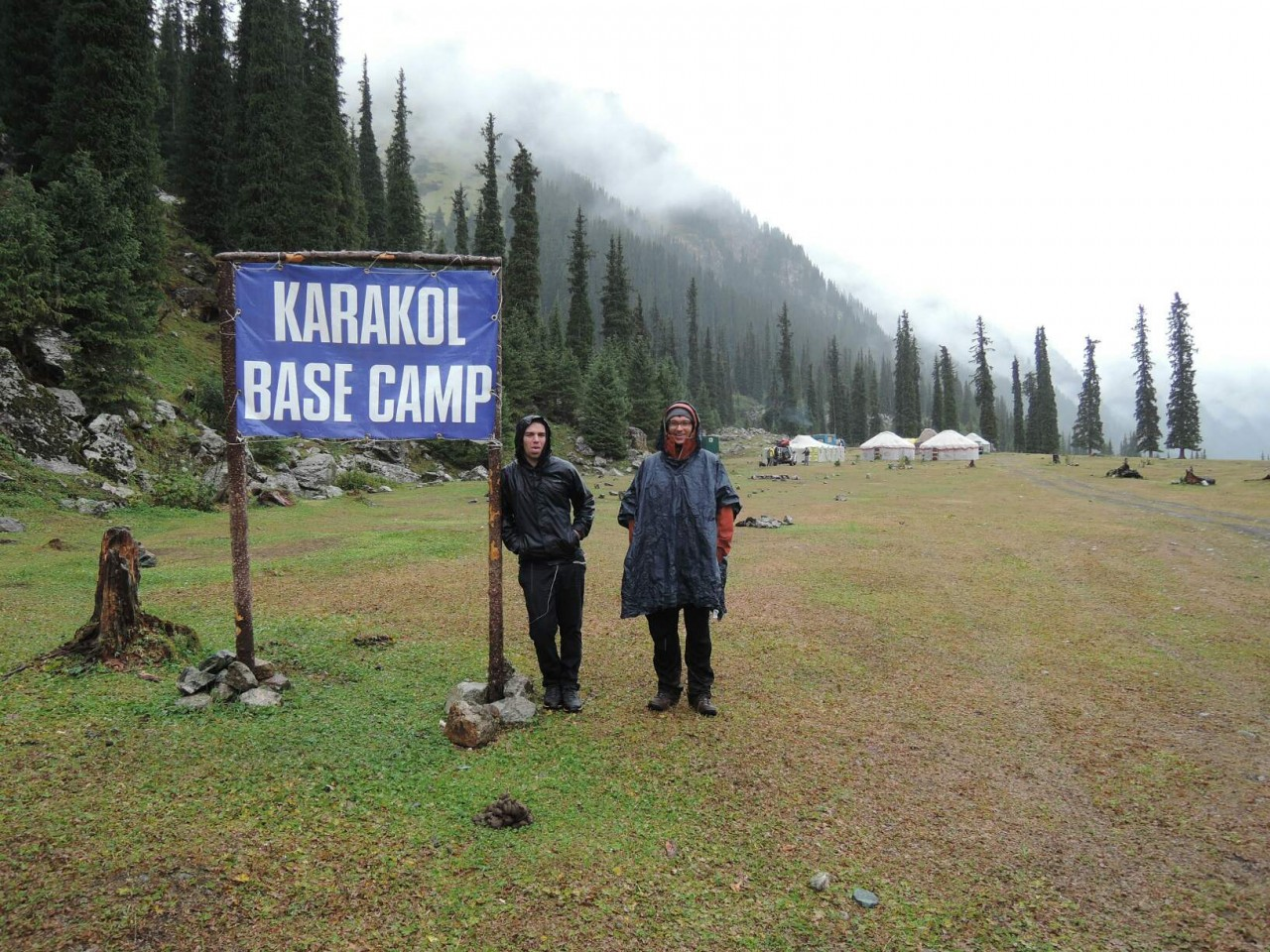 Karakol Basecamp - bad weather, bad motivation