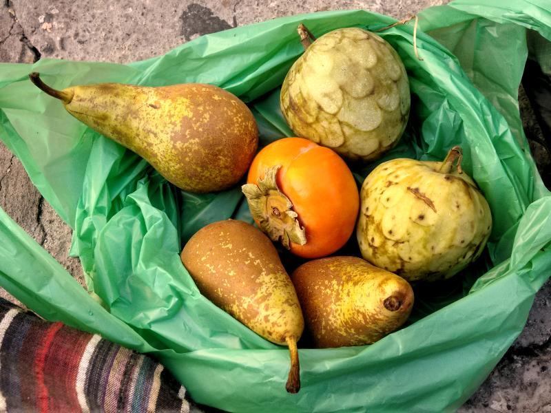 Local organic fruits in Spain