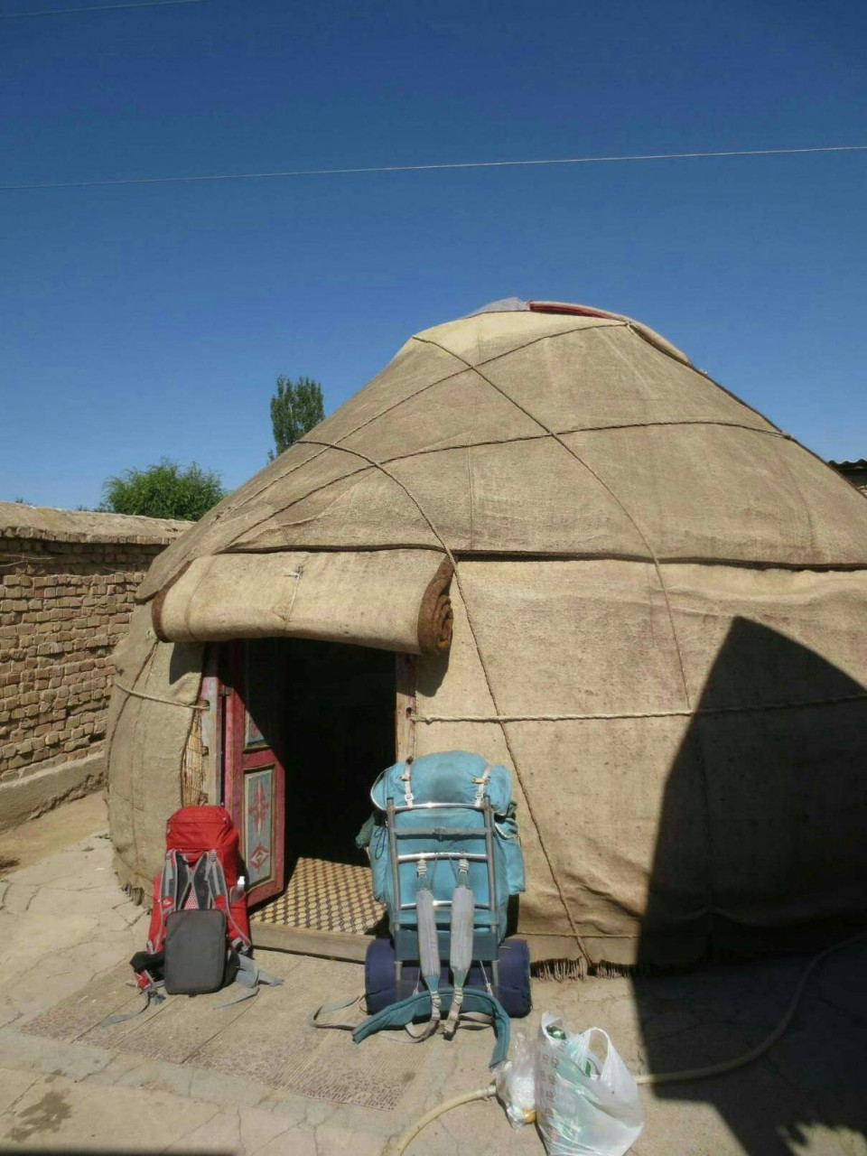 Kyrgyz yurt backpacking