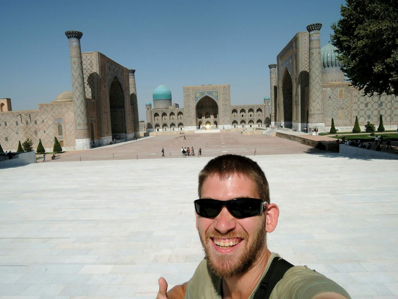 Me at the Registon Samarkand
