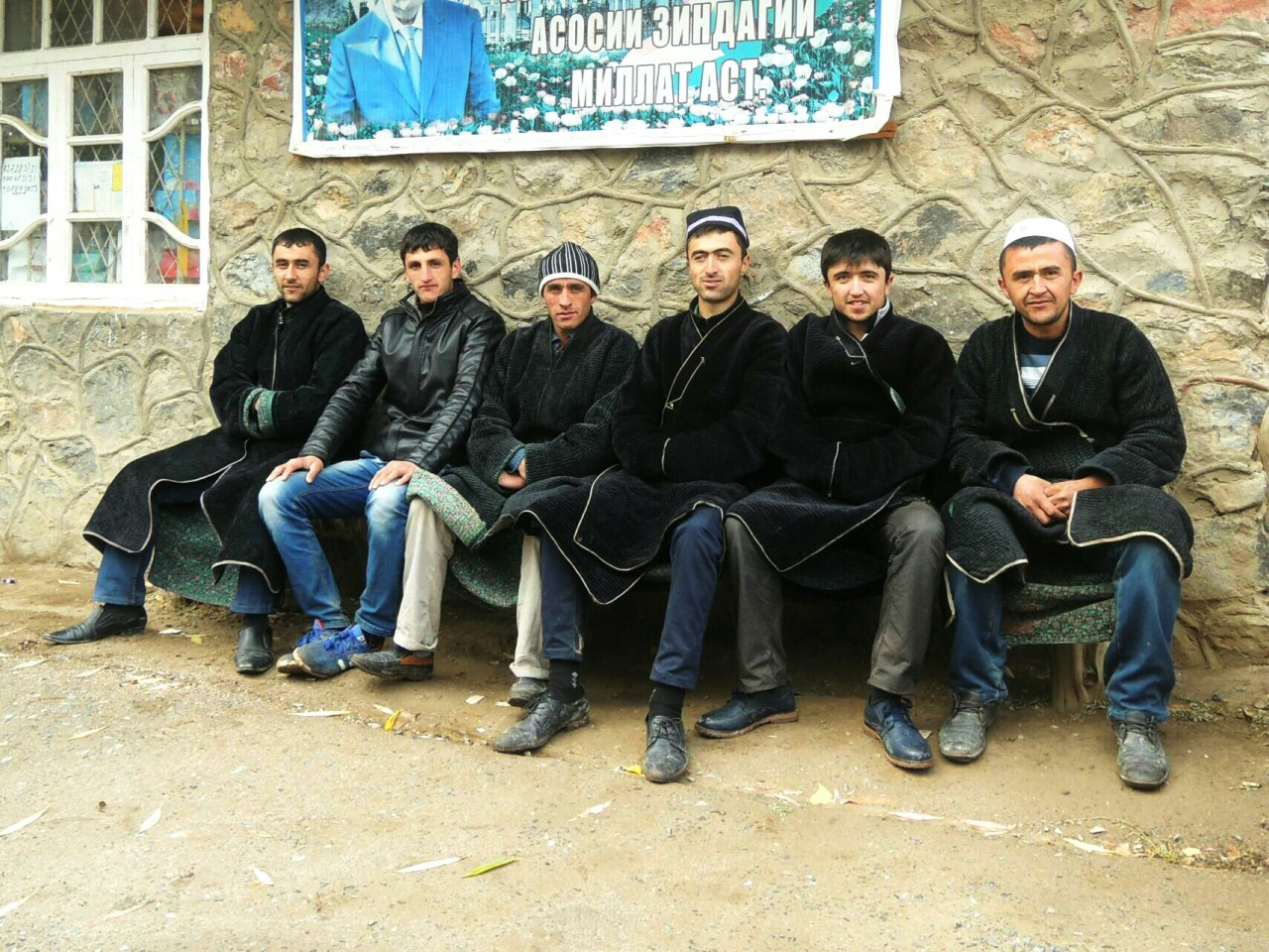 Some guys in Tajikistan