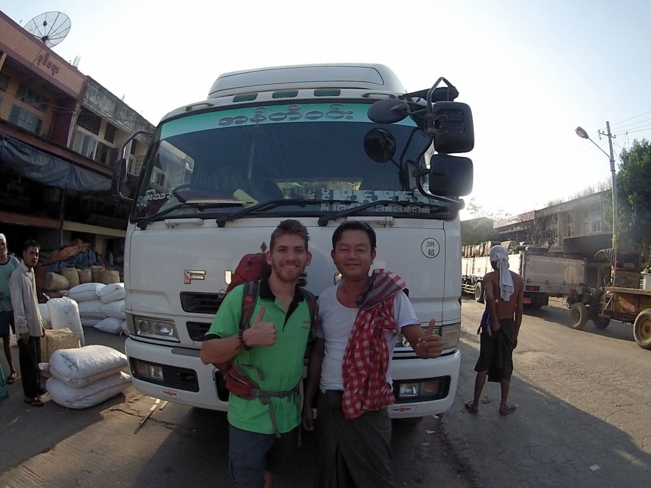 Hitchhiking in Myanmar