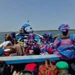 On the boat in Sine-Saloum river delta