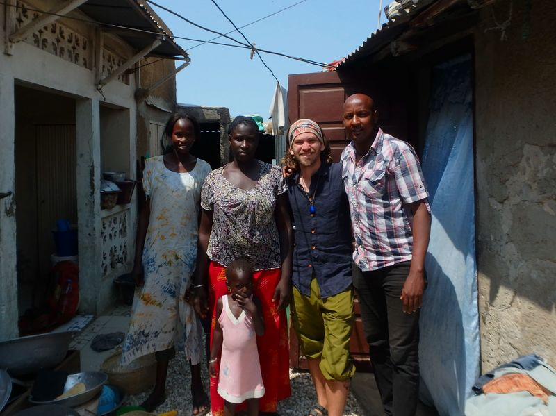 With a family from Senegal