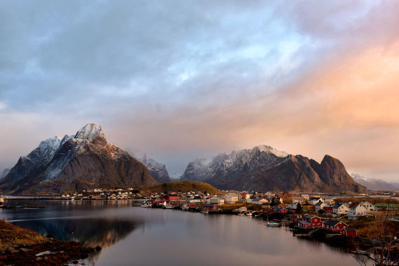 The beautiful village of Reine in Lofoten, Norway