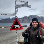 Polar bear road sign