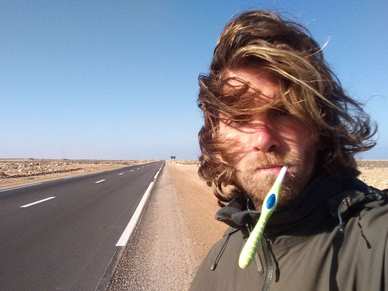 On the road in Western Sahara